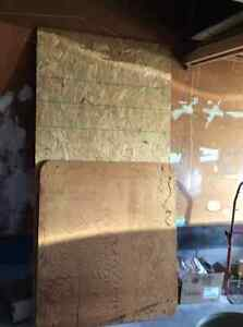 4x4 ' 3/4 inch fir plywood, 4x8 '5 inch particle board, each 10$