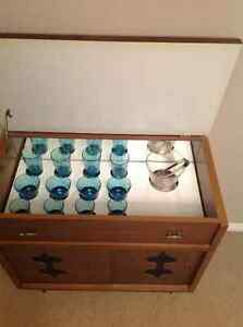 Retro bar cabinet with glassware London Ontario image 2