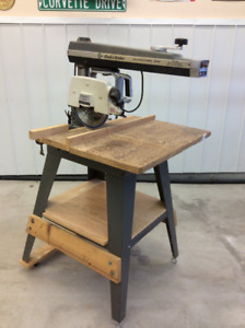 Black and Decker 10 inch radial arm saw on stand