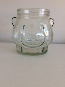 Vintage Glass 1989 Kraft Peanut Butter Jar NO LID