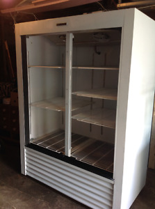 Used white commercial cooler