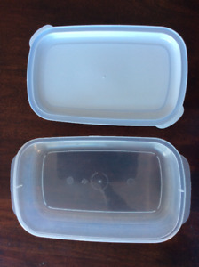 Clear Tupperware with White Lid