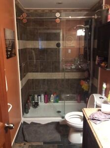 Brand new. Stand up shower glass door