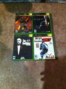4 xbox games halo 2,hitman,NHL2K7,godfather. London Ontario image 1