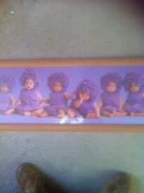 Framed print of babies