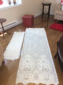 Lace curtains .... size. 110X84