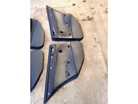 BMW e46 leather rear door cards
