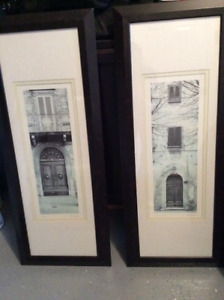 "Framed Picture of Doors Size 16"" x 40"". 2 Available"