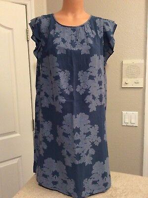 Ann Taylor LOFT Blue/Blue Dress. Fully Lined. Small. NEW