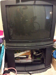 27 inch tube tv with stand