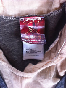 Size XS Captain Jack Sparrow Pirate Costume Strathcona County Edmonton Area image 3