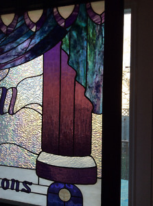 One of a kind stained glass for window