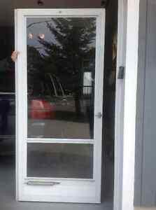 White storm door