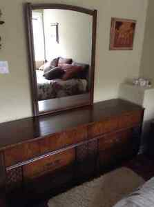 Dresser with mirror, 5 Drawer Chest & Night Stand