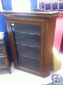 Soli oak Victorian corner cabinet