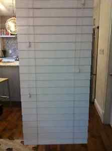 Two Faux Wood Blinds - white $25 each