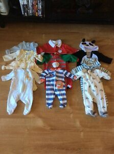 Newborn boy clothes and accessories.
