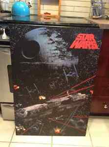 Star Wars space battle laminated poster from the 80's