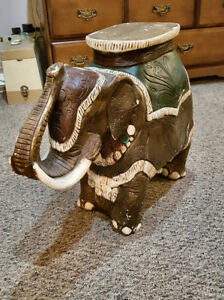 2 ceramic elephant statues for sale!