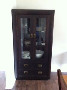 Solid wood dining room cabinet