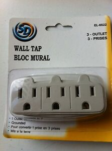 3 outlet wall tap bloc mural - NEW