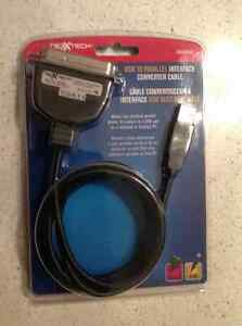 NEXXTECH USB TO PARALEL INTERFACE CONVERTER CABLE