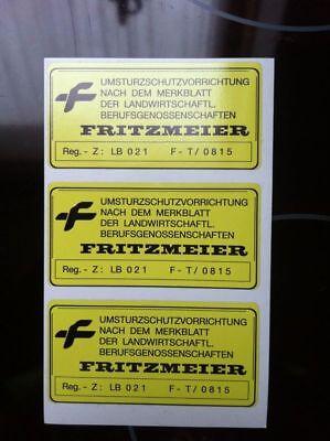 3 Aufkleber Fritzmeier Eicher Kramer Lanz Cormick