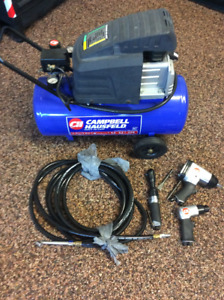 8Gallons ,1.3HP Campbell Air Compressor  with Air Tools