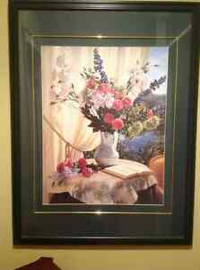 Mvg sale framed flower print and more items