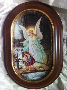 """Collector's Framed Porcelain Plate """"Behuteter Heimweg"""""""