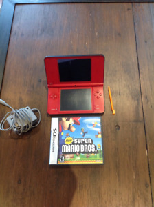 Nintendo DS XL with Mario game
