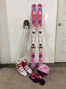 Skis alpins, bottes, bâtons pour jeune fille Saint-Hyacinthe Québec image 1