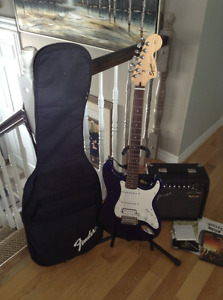Fender electric guitar & amplifier