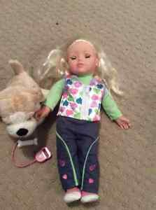 You and Me doll and her pet dog