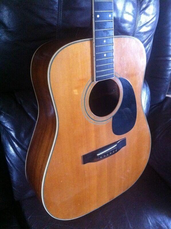 1975 Vintage Fender F 85 Acoustic Guitar MIJ Rare