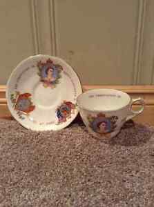 Queen Elizabeth II Coronation Cup and Saucer -Royal Stafford Kitchener / Waterloo Kitchener Area image 2