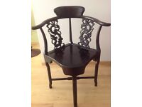 Chinese Lacquered Rosewood Chairs