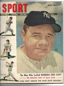Baseball, SPORT  MAY 1948; BABE RUTH  on cover
