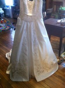 Mon Cheri wedding gown with removable train