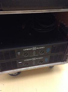 2 Crest CA9 Amplifiers For Sale