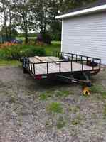 Large Trailer to trade for pull behind motorcycle trailer