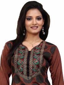 Women Fashion Casual Indian Short Kurti Tunic Kurta Top Shirt Dress ECCO02