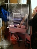 Big white bird cage with stand