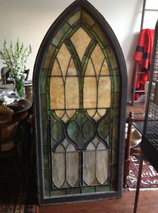 Century gothic stained glass church window