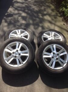 Nissan alloy rims and tires