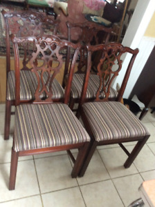 Antique Chippendale style mahogany dining chairs