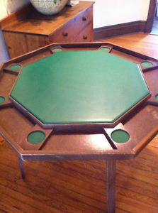8 Player Folding Poker Table w/ Cup Holders