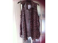Ladies animal print top size 10 topshop
