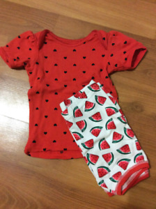6-12 month summer pjs