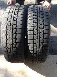 Used 2 Kebek tires 185 65/15 with rims West Island Greater Montréal image 1